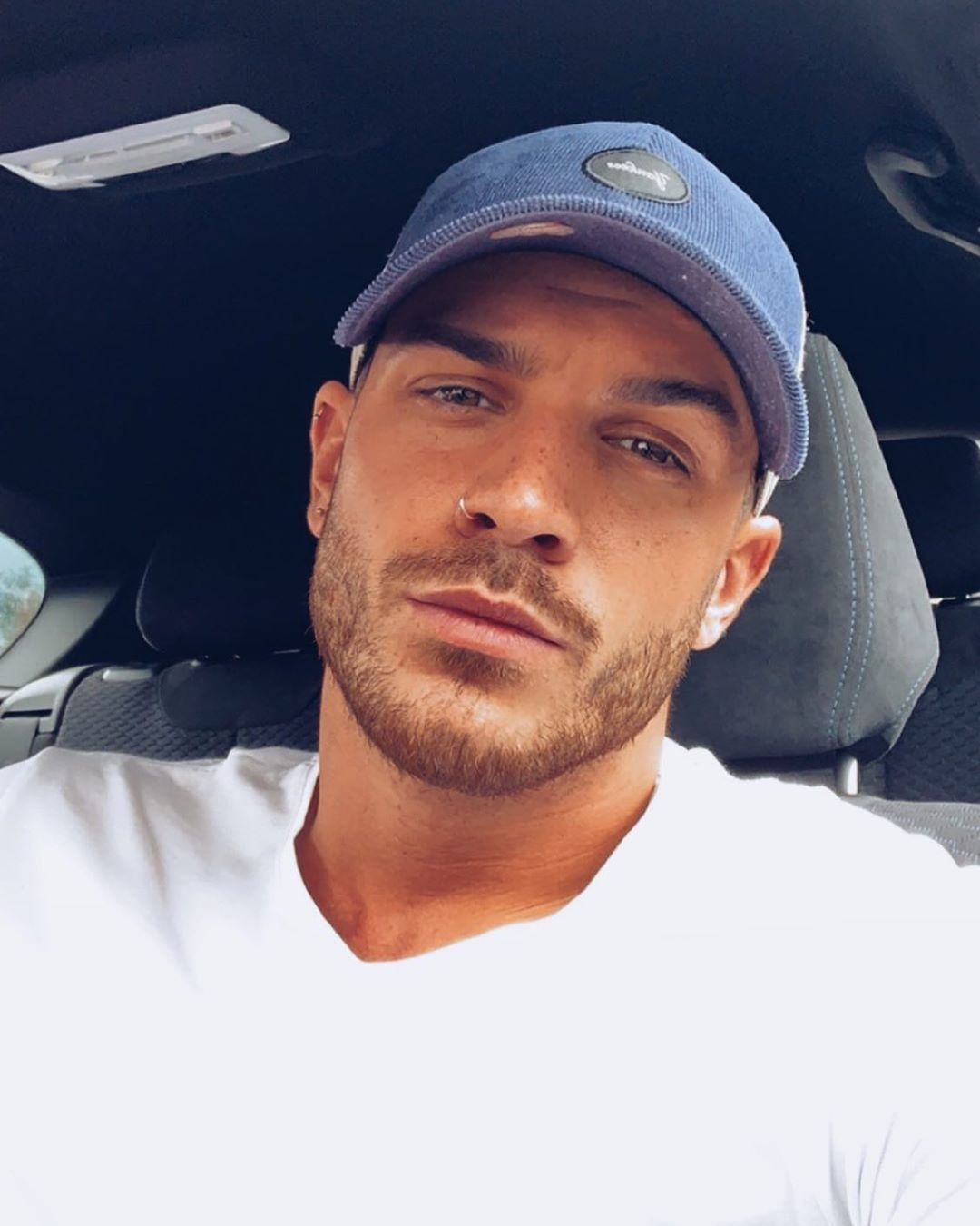 Image may contain: Dan Rose, Love Island, Casa Amor, villa, contestant, Islander, cast, bombshell, late, arrival, new, gossip, latest, news, rumours, Headrest, Beard, Clothing, Apparel, Human, Person, Face, Cushion