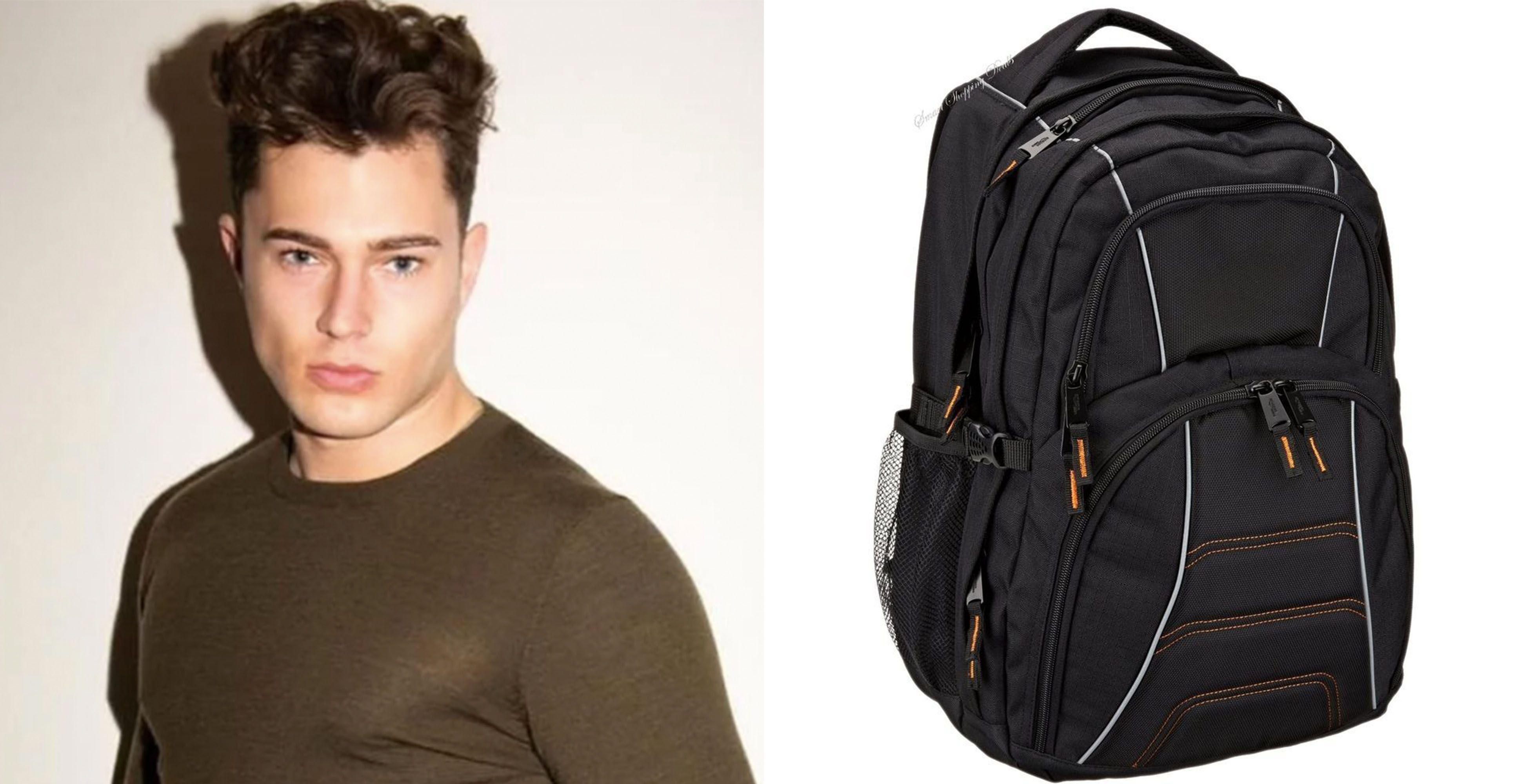 Image may contain: Human, Person, Backpack, Bag