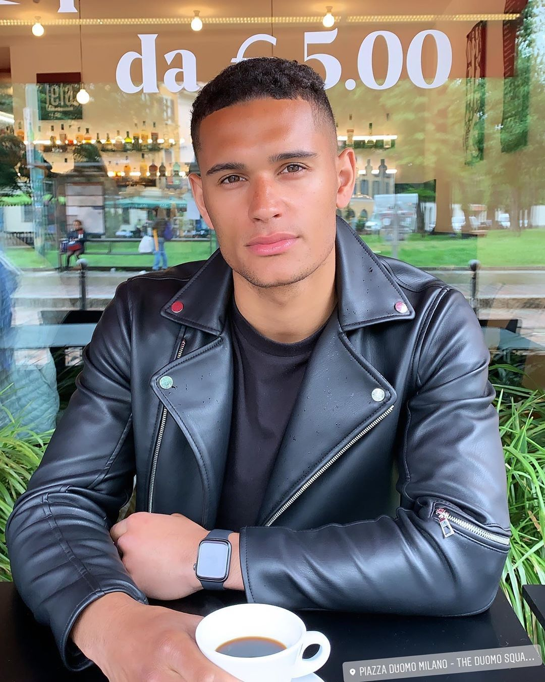 Image may contain: Danny Love Island, Danny Williams, Love Island, 2019, new, cast, Islander, contestant, boy, villa, model, Hull, Instagram, age,  Leather Jacket, Person, Human, Jacket, Coat, Apparel, Clothing