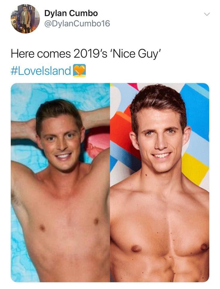 Image may contain: Love Island episode one memes, Callum, Dr Alex, Love Island, 2019, meme, reaction, tweet, Man, Face, Human, Person