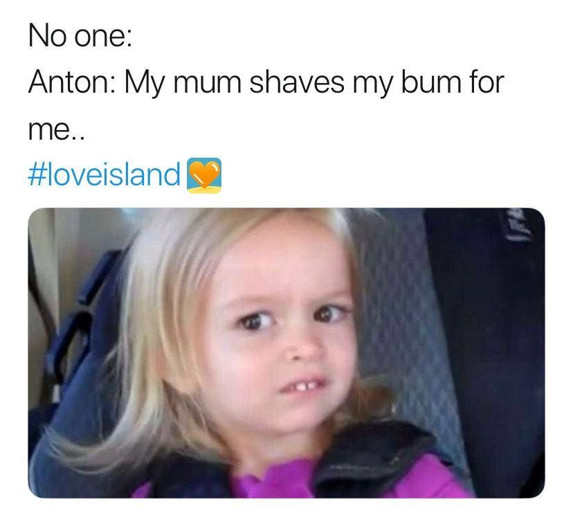 Image may contain: Love Island episode one memes, Love Island, 2019, memes, reactions, tweets, best, funniest, episode one, Mousepad, Mat, Text, Human, Face, Person