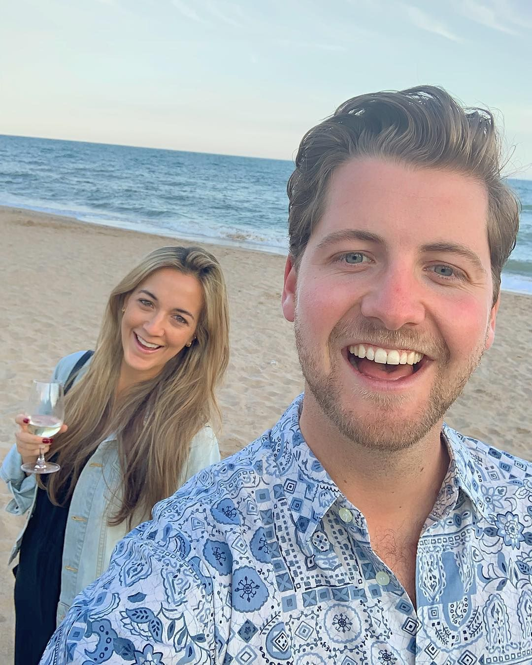 Image may contain: Made in Chelsea cast now, Made in Chelsea, cast, then, now, before, after, iconic, original, Stevie, girlfriend, 2019, People, Photo, Photography, Portrait, Man, Apparel, Clothing, Beach, Coast, Shoreline, Outdoors, Sea, Ocean, Nature, Water, Face, Human, Person