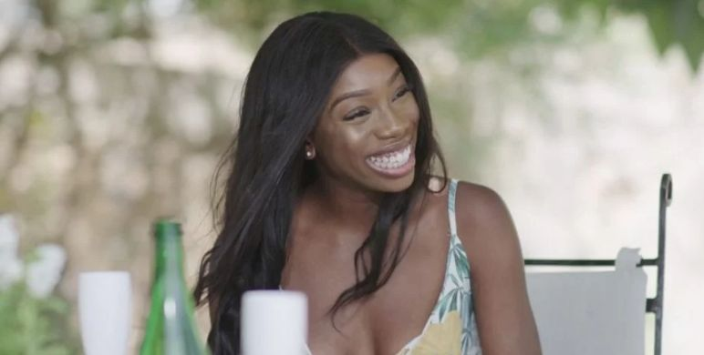 Image may contain: Photo, Portrait, Photography, Hair, Female, Smile, Face, Person, Human, who left love island, last night, love island, 2019, yewande biala, danny, arabella, dumped, contestant, evict, cast, Islander, news, gossip, latest