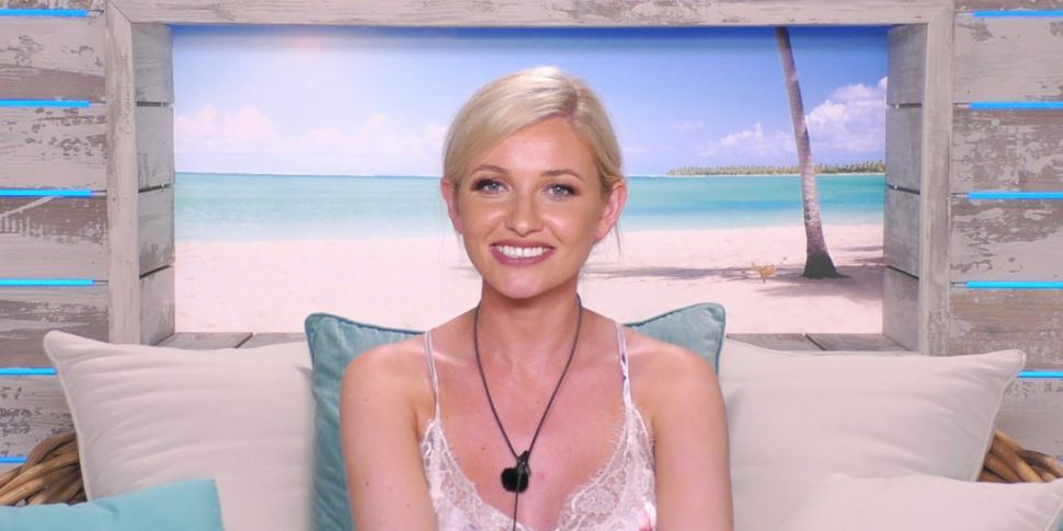 Image may contain: Love Island star signs, Love Island, Amy, star sign, Cancer, age, compatible, qualities, Pillow, Cushion, Accessory, Necklace, Jewelry, Accessories, Pendant, Person, Human