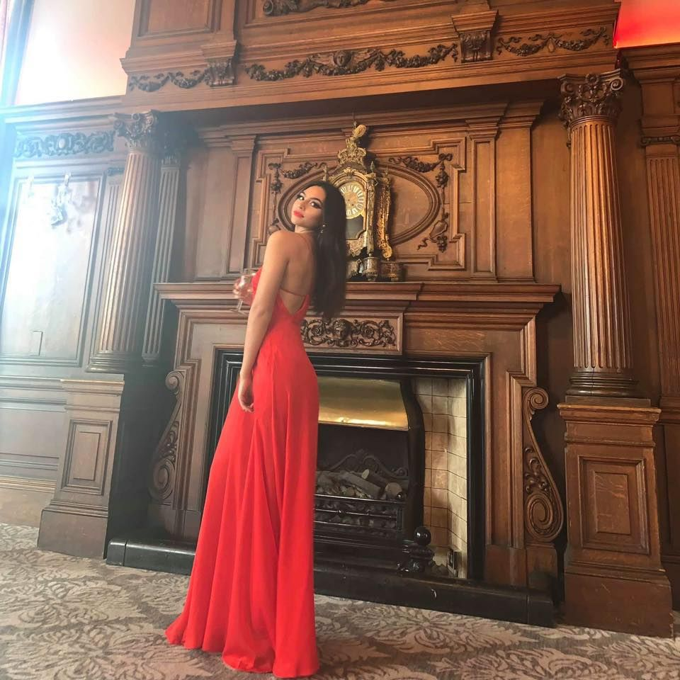 Image may contain: Robe, Fashion, Evening Dress, Gown, Architecture, Building, Altar, Church, Human, Person, Apparel, Clothing, Hearth, Fireplace, Indoors