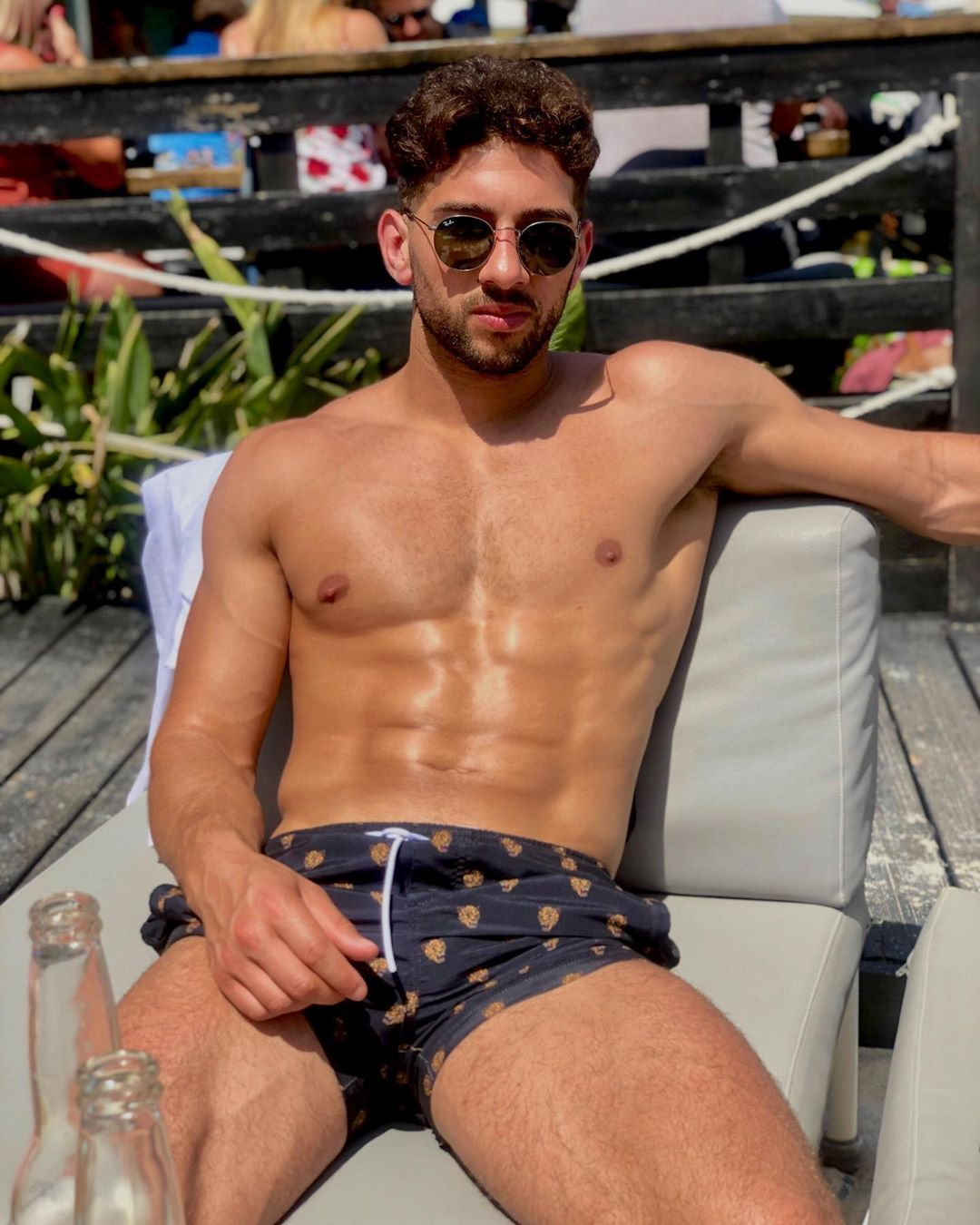 Image may contain: Casa Amor cast, Casa Amor, Love Island, Marvin Brooks, contestant, cast, Islander, new, boy, Instagram, age, job, Skin, Man, Clothing, Apparel, Shorts, Human, Person, Sunglasses, Accessory, Accessories