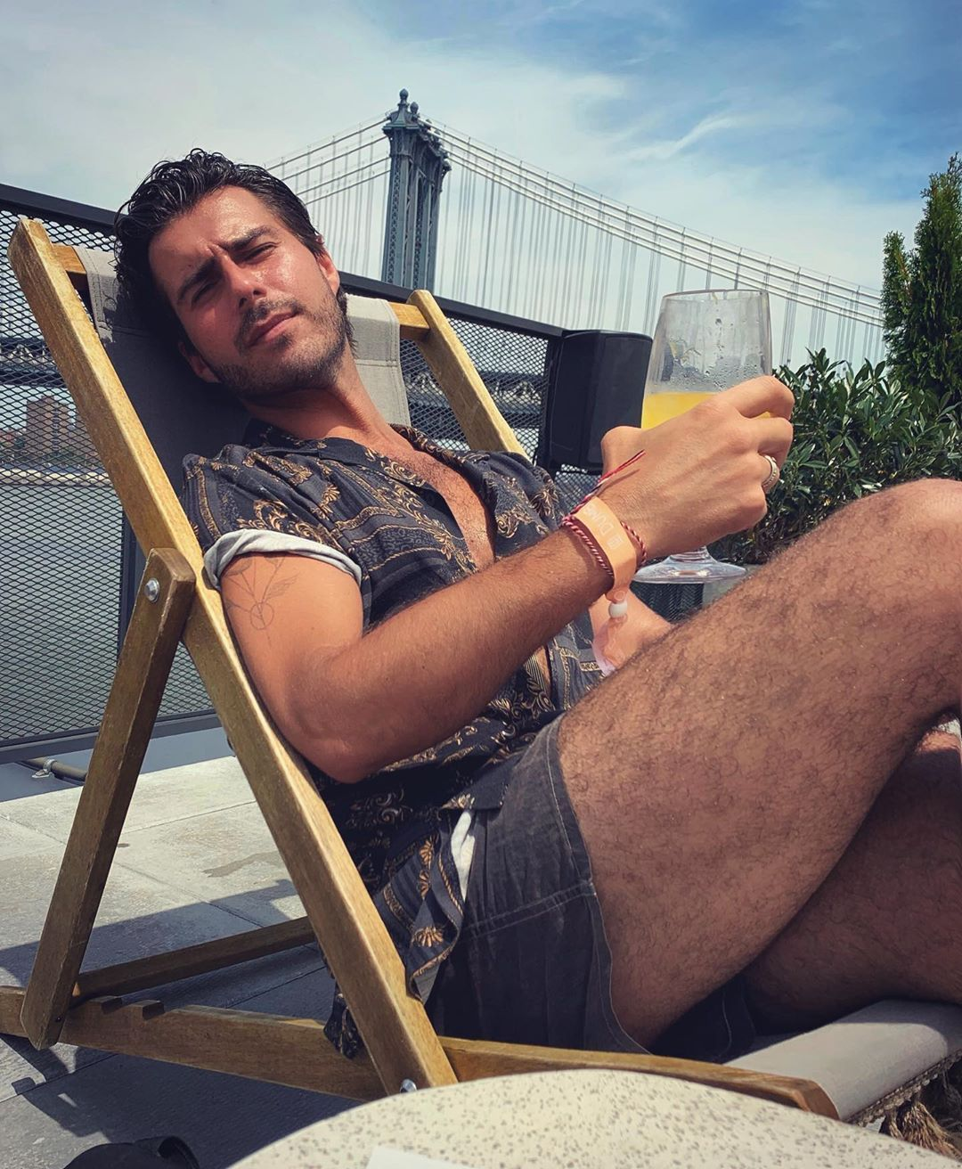 Image may contain: Made in Chelsea cast now, Made in Chelsea, cast, then, now, before, after, iconic, Alik, Alfus, 2019, original, Skin, Plywood, Shorts, Beard, Clothing, Apparel, Wood, Person, Human, Face