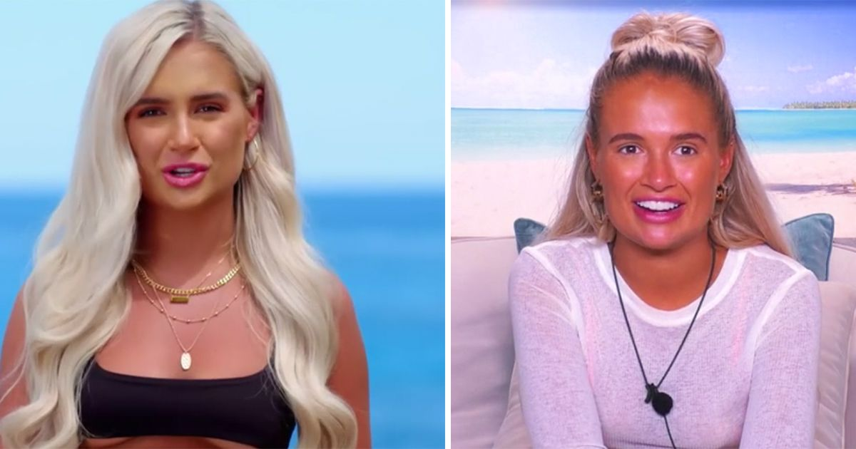Image may contain: Love Island tans, Love Island, tan, burn, sun, before, after, tanformation, Molly-Mae, Accessory, Necklace, Jewelry, Accessories, Woman, Teen, Kid, Child, Girl, Blonde, Female, Face, Human, Person