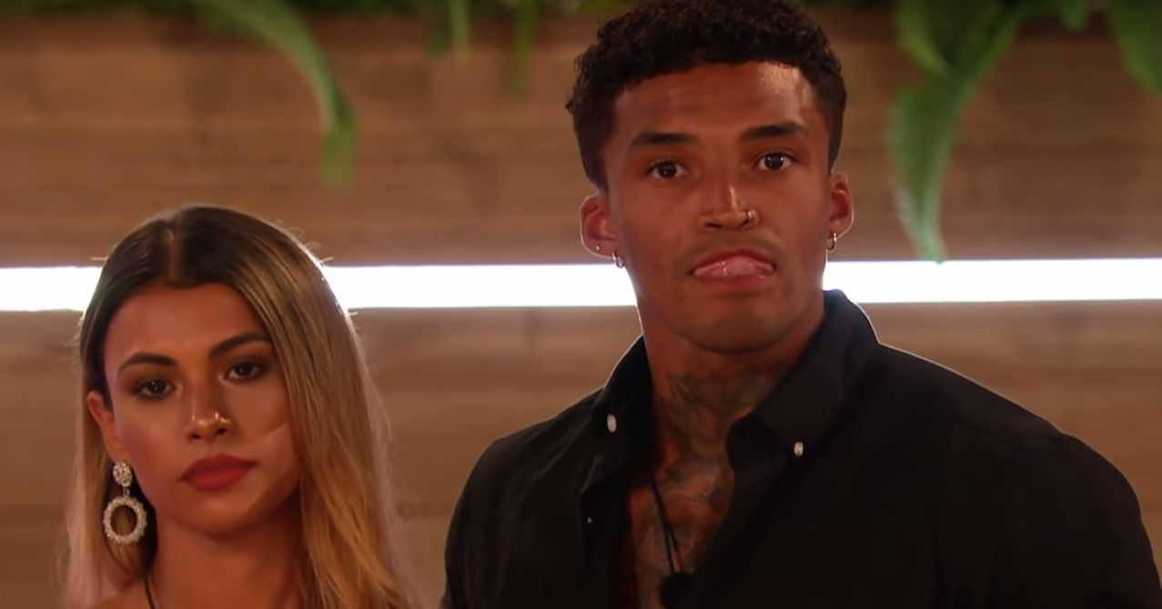Image may contain: Love Island recoupling, Joanna, Michael, Amber, recouple, couple up, who left, dumped, last night, Clothing, Apparel, Head, Man, Face, Person, Human
