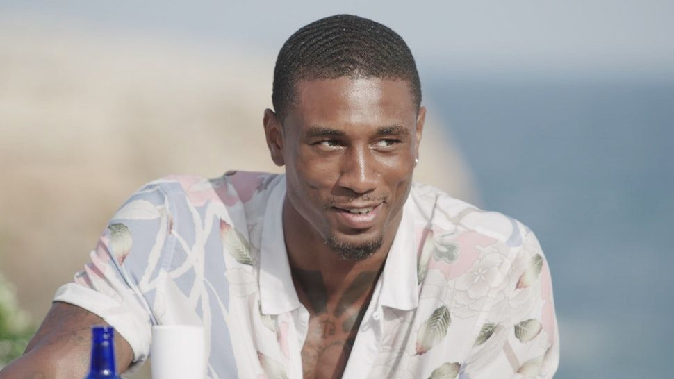 Image may contain: Love Island star signs, Ovie, Love Island, Aquarius, star sign, compatible, age, birth, Clothing, Apparel, Shirt, Man, Face, Person, Human