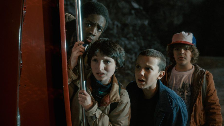 Image may contain: Stranger Things recap, Stranger Things 3, season one, season two, episodes, Netflix, cast, Dustin, Eleven, Will, Lucas, Coat, Head, Sleeve, Face, Hat, Clothing, Apparel, Human, Person