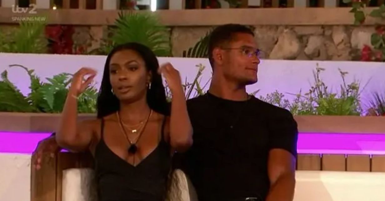Image may contain: Love Island recoupling, Love Island, who left, new, couples, last night, Danny, Jourdan, Crowd, Person, Human