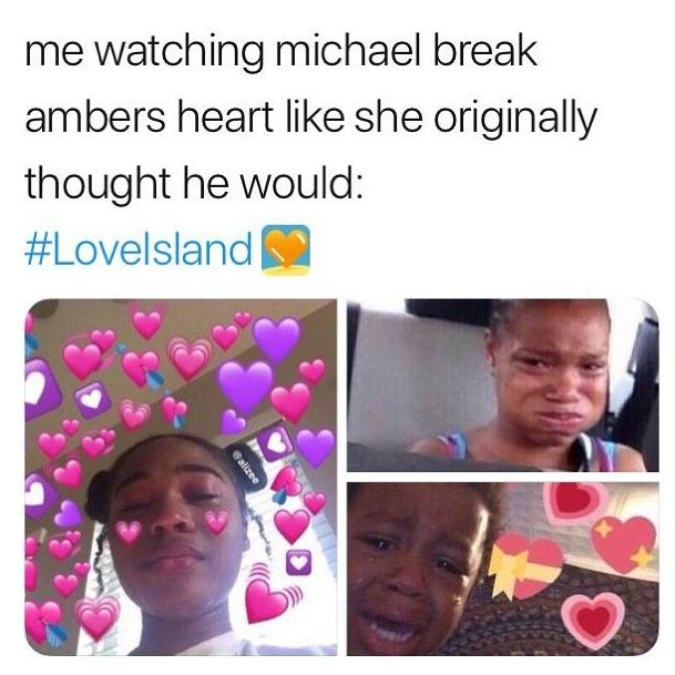 Image may contain: Casa Amor Love Island memes, Love Island, Casa Amor, meme, reaction, tweet, Amber, Michael, funny, savage, best, Twitter, Document, Text, Id Cards, Portrait, Photography, Photo, Head, Face, Human, Person