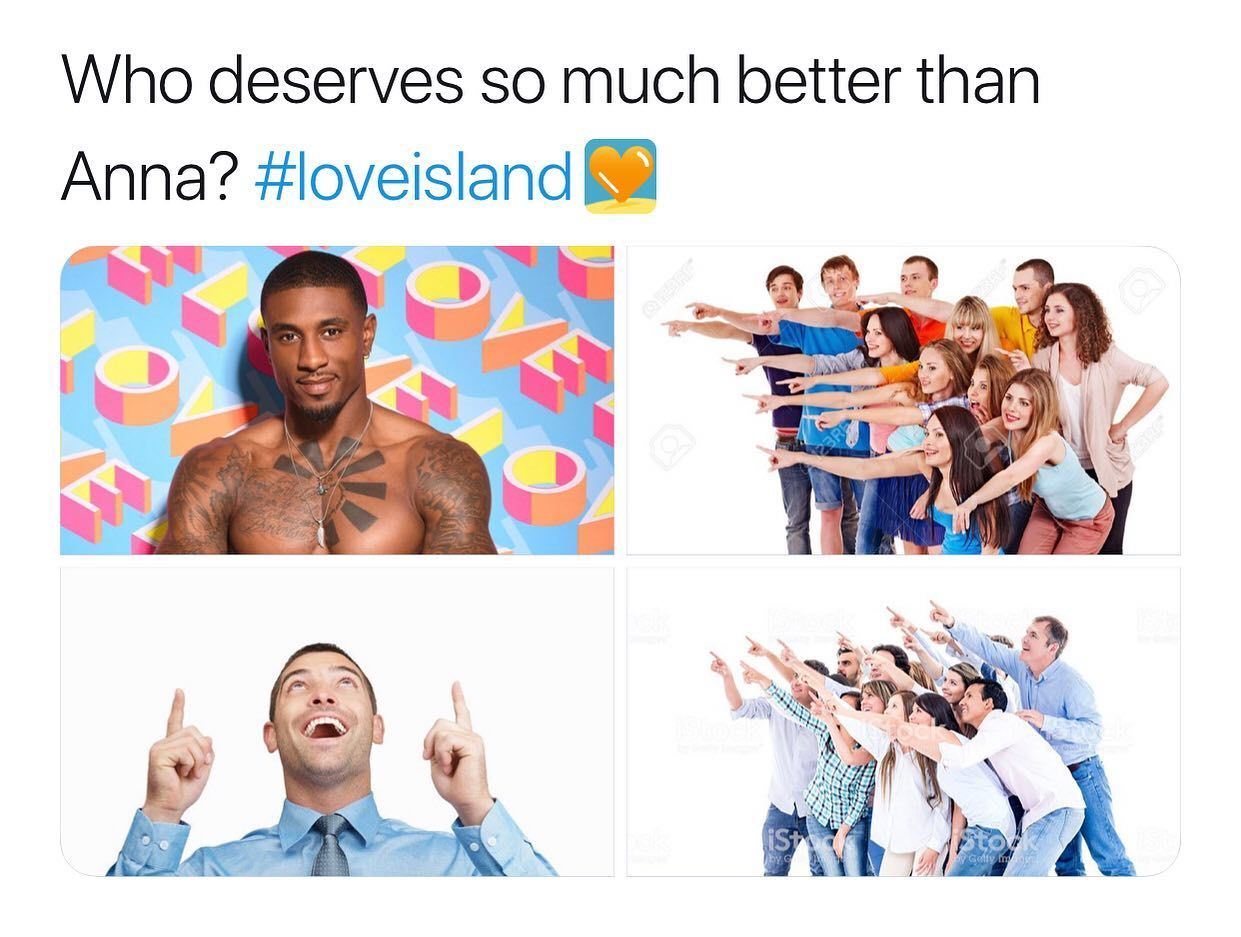 Image may contain: Love Island Ovie memes, Love Island, Ovie Soko, meme, Anna, win,  Face, Human, Person, Skin