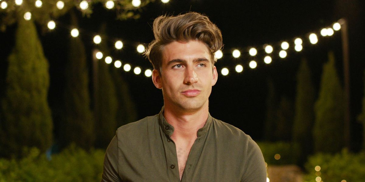 Image may contain: Love Island star signs, Chris, Love Island, Leo, star sign, compatible, age, birth, Face, Lighting, Man, Human, Person