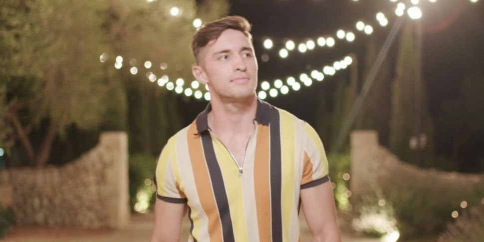 Image may contain: Michael and Amber, Love Island, tonight, episode, Michael, Amber, feelings, gossip, news, latest, spoilers, Greg, new boy, date, Face, Man, Apparel, Clothing, Human, Person
