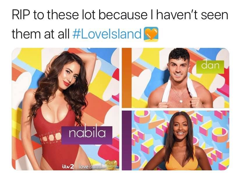 Image may contain:  Love Island recoupling memes, Love Island, memes, tweets, reactions, savage, twitter, Lavena, Face, Poster, Advertisement, Photo Booth, Person, Human