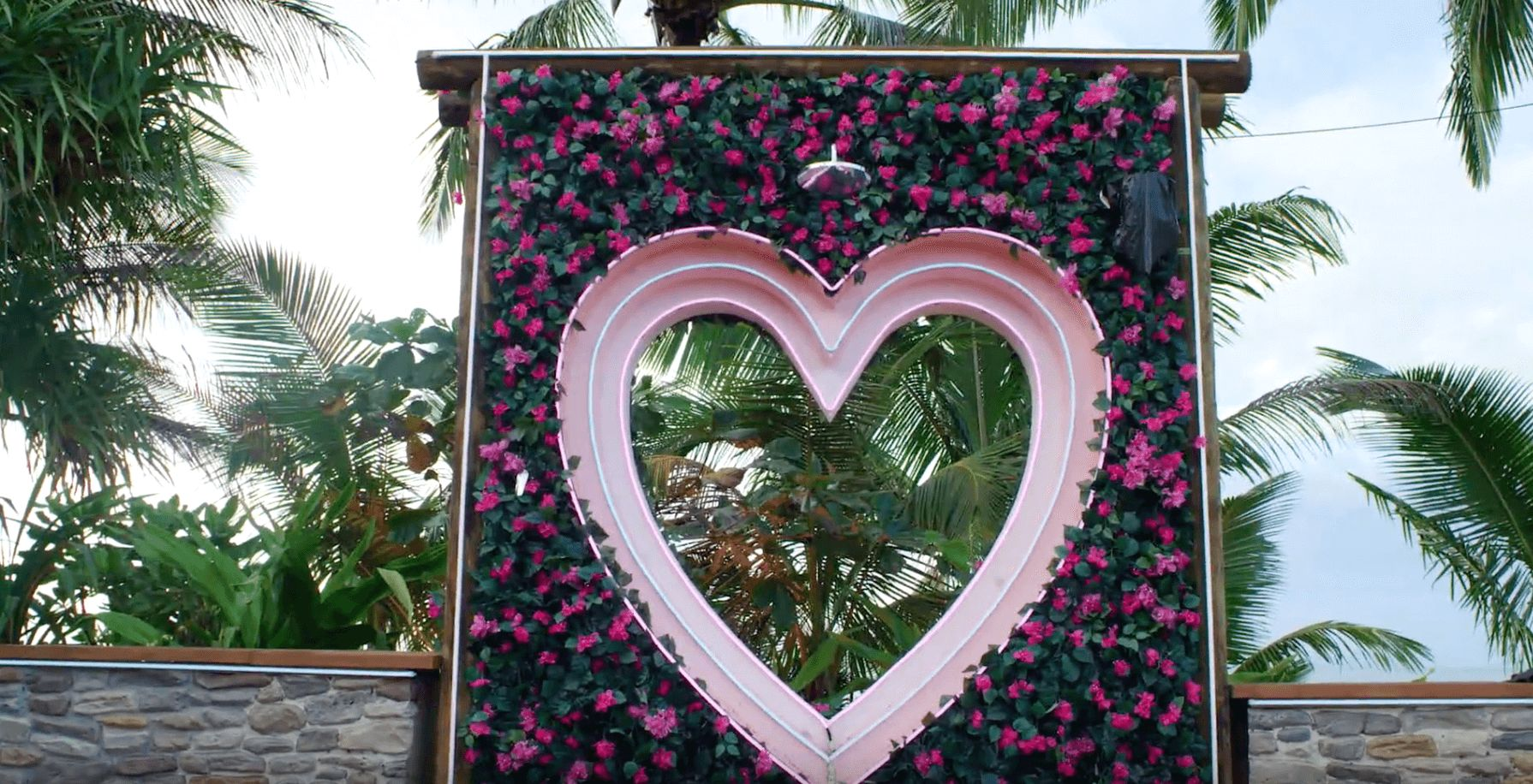 Image may contain: Love Island USA villa, Love Island USA, villa, Love Island, CBS, Garden, Outdoors, Arbour, Tree, Plant