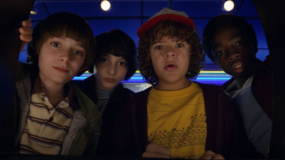 Image may contain: Stranger Things recap, Stranger Things, 3, season, 2, 1, episodes, recap, what happened, Will, Dustin, Lucas, Mike, Hat, Apparel, Clothing, Human, Person