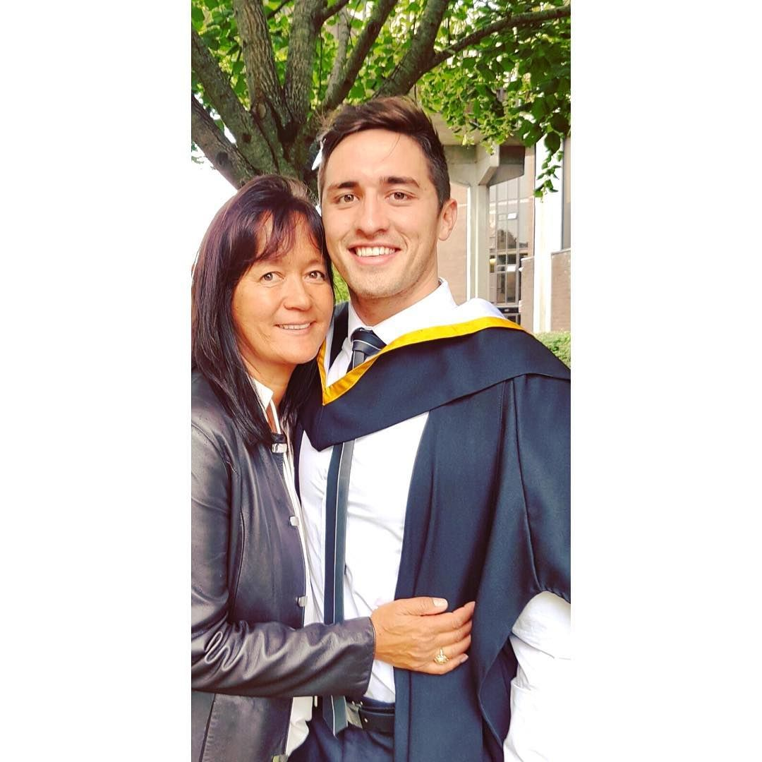 Image may contain: Love Island parents, Love Island, mum, dad, Greg, Niall O'Shea, Human, Person, Graduation
