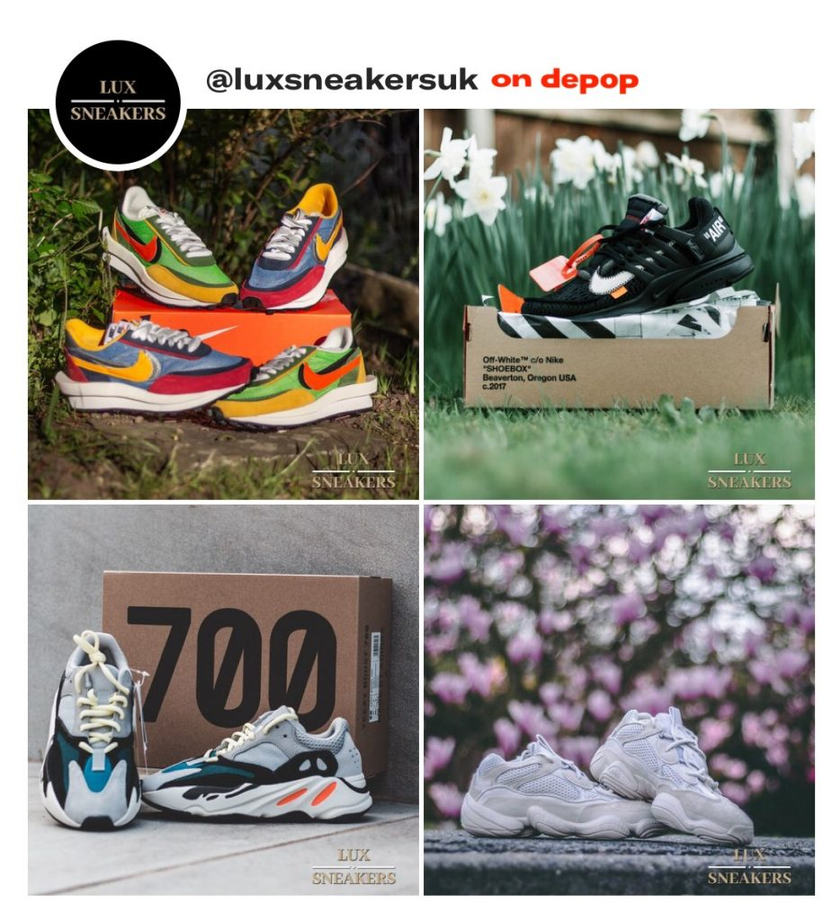 63879bcdb @Luxsneakersuk, mainly selling limited edition sneakers, for example:  Yeezy's, Off-white trainers and high fashion trainers such as Valentino  Runners, ...