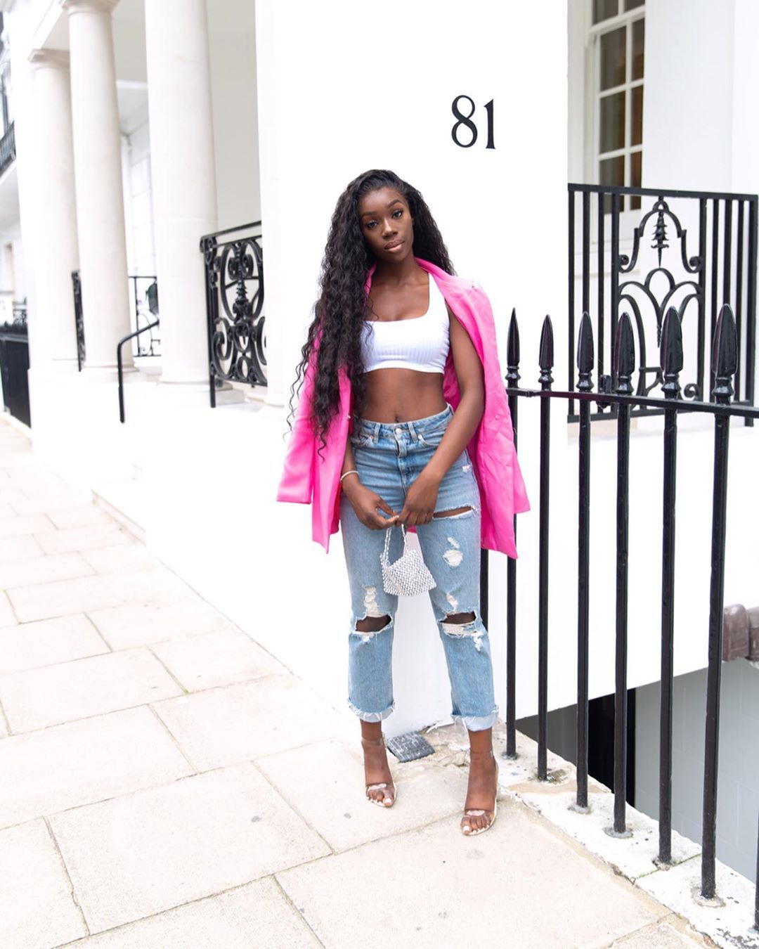 Image may contain: Love Island Instagrams, Love Island, Instagram, followers, ranking, 2019, Yewande, Jeans, Denim, Shorts, Person, Human, Pants, Clothing, Apparel