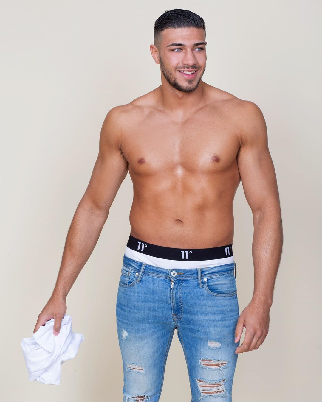 Image may contain: Love Island Instagrams, Love Island, Instagram, followers, ranking, 2019, Tommy, Man, Diaper, Denim, Jeans, Person, Human, Pants, Clothing, Apparel