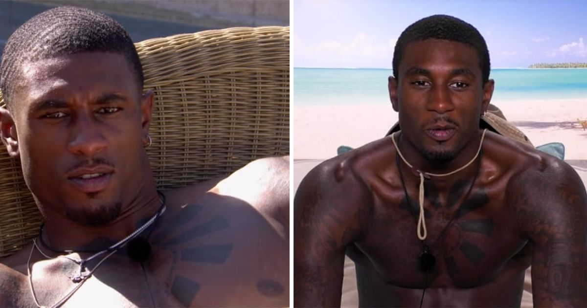 Image may contain: Love Island tans, Love Island, tan, burn, sun, before, after, tanformation, Ovie, Man, Skin, Face, Human, Person