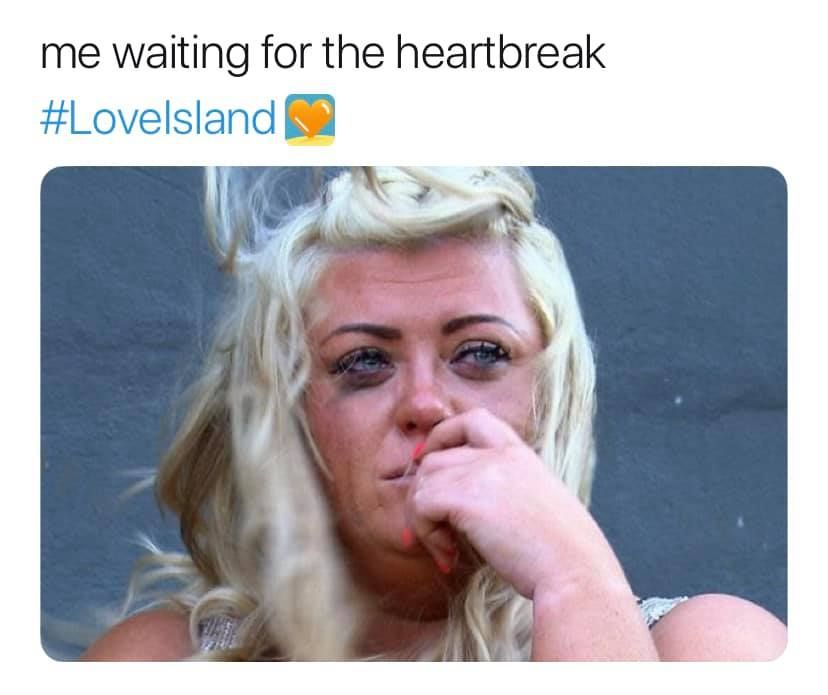 Image may contain:  Love Island recoupling memes, Love Island, memes, tweets, reactions, savage, twitter, Outdoors, Photo, Portrait, Photography, Head, Face, Human, Blonde, Female, Teen, Child, Woman, Girl, Person, Kid