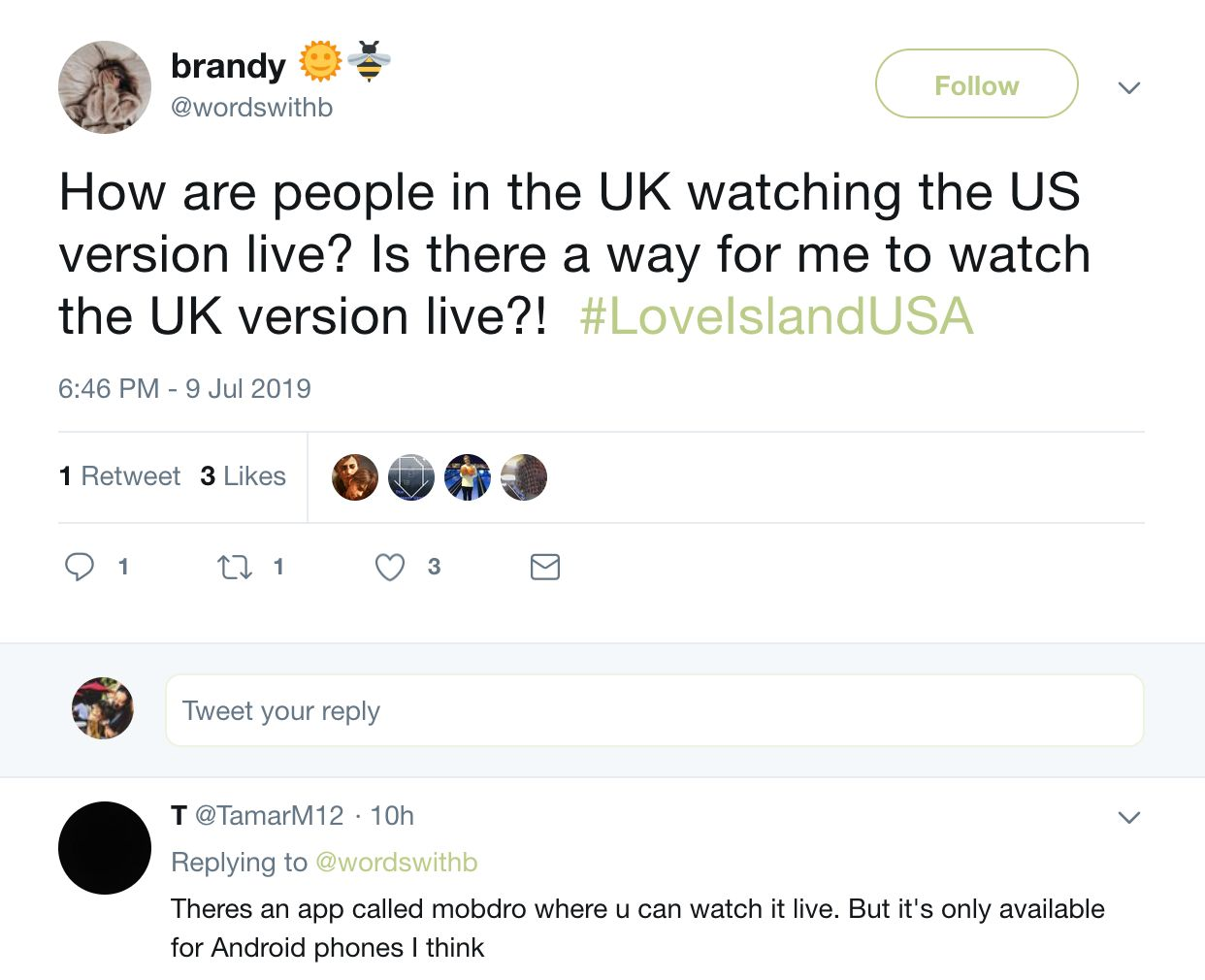 Image may contain: How to watch Love Island USA, in UK, Love Island USA, Love Island, America, CBS, stream, online, free, subscription, watch, live, tweet, reddit, thread, app, Page, Text Message, Text