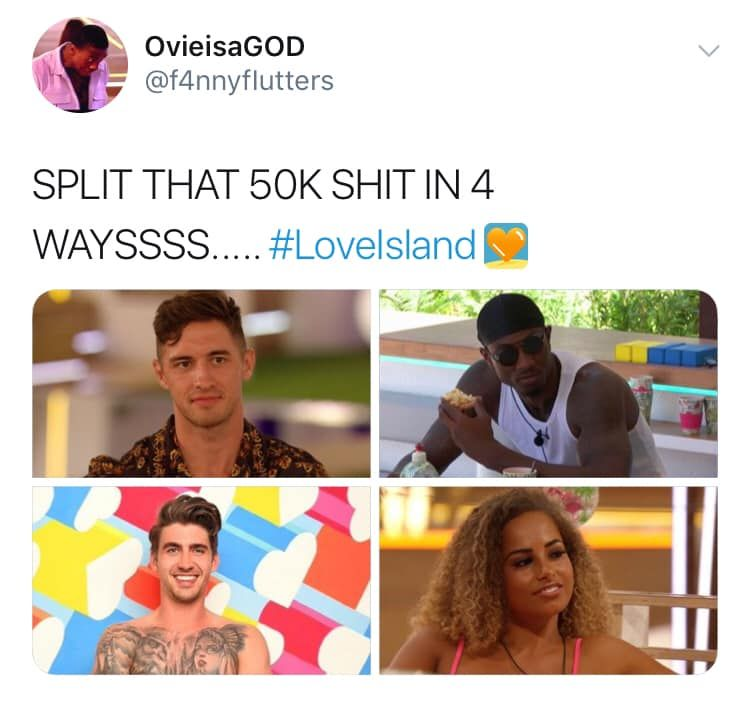 Image may contain: Love Island Chris memes, Love Island, memes, reactions, Chris Taylor, Greg, Ovie, Amber, Twitter, reactions, latest, news, gossip, funny, dumped, Islander, left, Paper, Brochure, Flyer, Female, Collage, Face, Poster, Accessories, Sunglasses, Accessory, Advertisement, Human, Person
