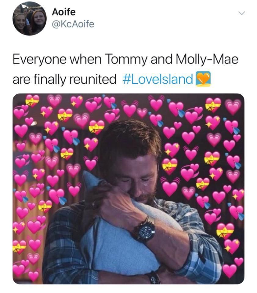 Image may contain:  Love Island recoupling memes, Love Island, memes, tweets, reactions, savage, twitter, Tommy Fury, Molly-Mae, Paper, Purple, Text, Human, Person
