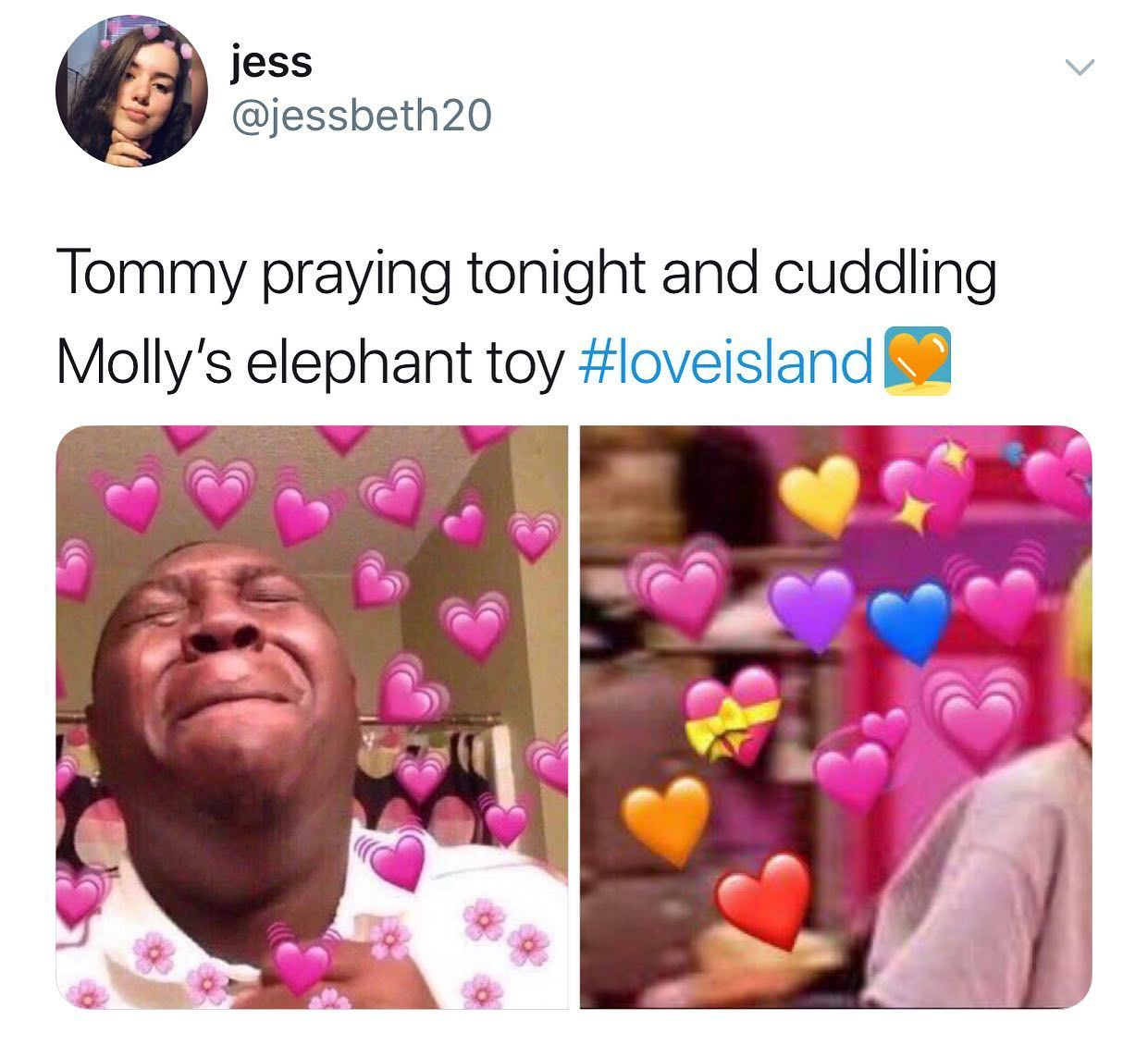 Image may contain: Casa Amor Love Island memes, Love Island, Casa Amor, meme, reaction, tweet, funny, savage, best, Twitter, Tommy, Molly-Mae, Photo Booth, People, Human, Person