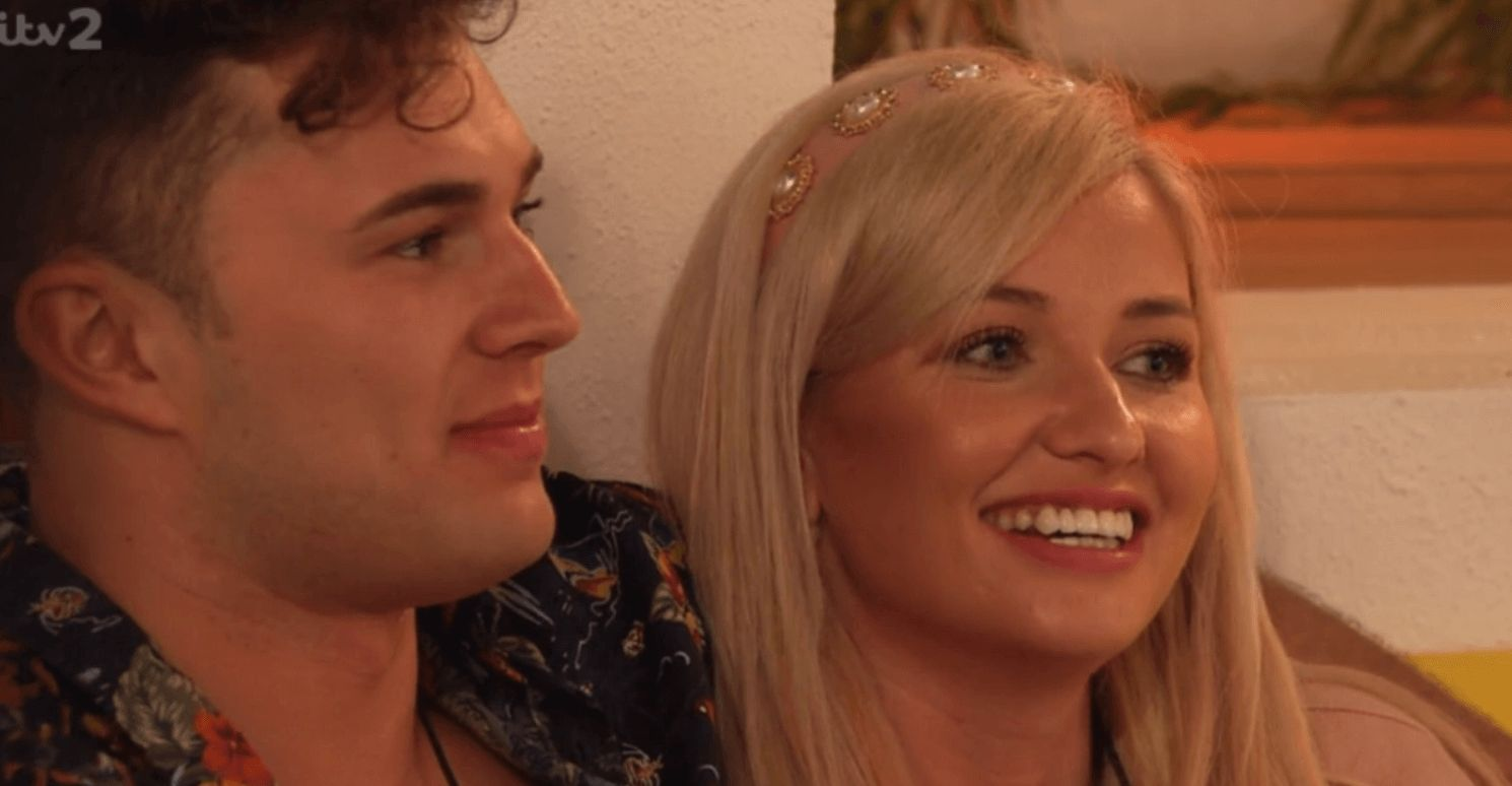 Image may contain: Love Island recoupling, Love Island, Curtis, Amy, couple, new, recouple, who left, last night, latest, news, gossip, Portrait, Photography, Photo, Head, Apparel, Clothing, Kid, Girl, Woman, Child, Teen, Blonde, Female, Face, Person, Human