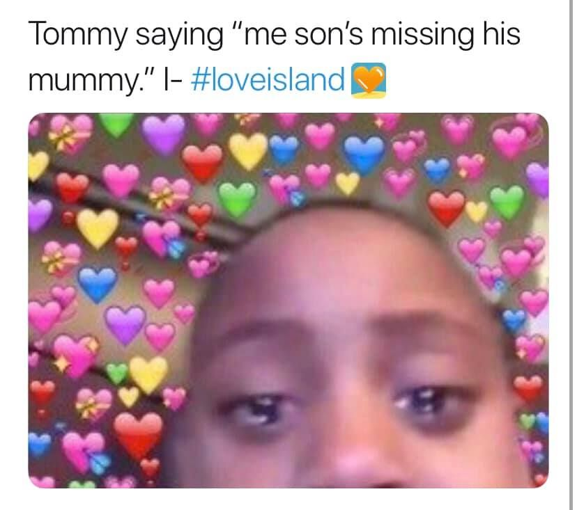 Image may contain:  Love Island recoupling memes, Love Island, memes, tweets, reactions, savage, twitter, Tommy Fury, Elly Belly, Toy, Sprinkles, Selfie, Photo, Portrait, Photography, Sweets, Confectionery, Food, Person, Human, Face