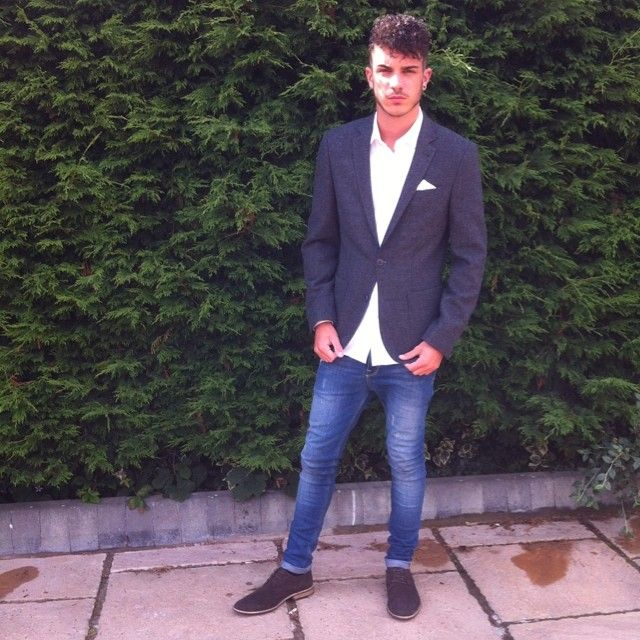 Image may contain: Casa Amor transformations, Casa Amor, Love Island, Dan, Dan Rose, before, after, old, new, pictures,Suit, Overcoat, Person, Human, Pants, Denim, Jeans, Shoe, Footwear, Blazer, Coat, Jacket, Clothing, Apparel
