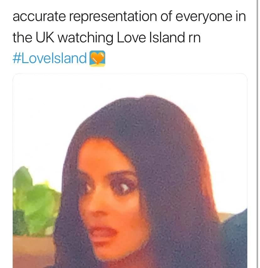 Image may contain:  Love Island recoupling memes, Love Island, memes, tweets, reactions, savage, twitter, Maura, Sweater, Sweatshirt, Hood, Person, Human, Apparel, Clothing, Hair
