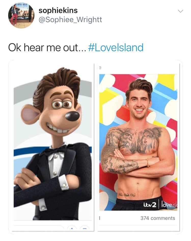 Image may contain: Love Island Chris memes, Love Island, memes, reactions, Chris Taylor, Twitter, reactions, latest, news, gossip, funny, dumped, Islander, left, Tattoo, Face, Word, Person, Human, Skin