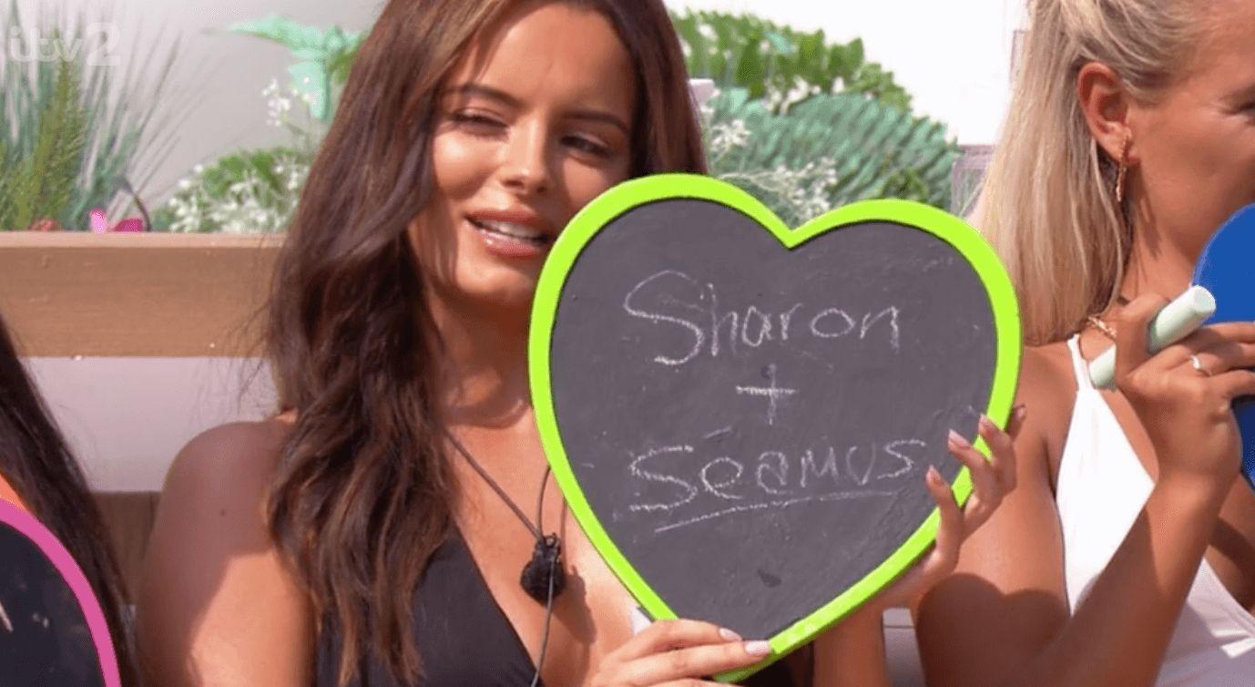 Image may contain: Love Island parents, Love Island, mum, dad, Maura, Sharon Higgins, Seamus Higgins, Text, Girl, Female, Human, Person