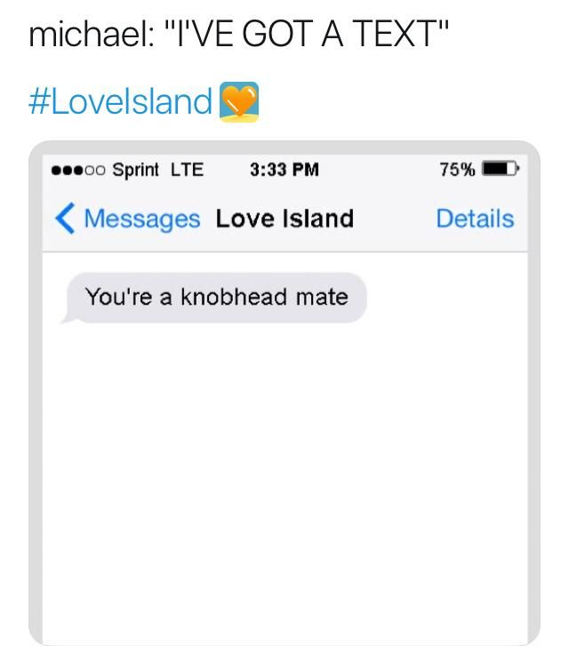 Image may contain: Love Island recoupling memes, Love Island, memes, Michael, tweets, reactions, savage, twitter, Text Message, Text