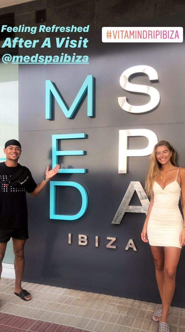 Image may contain: Love Island, gossip, news, latest, rumours, news, Wes, Arabella, dating, Ibiza, Alphabet, Symbol, Number, Text, Female, Shorts, Shoe, Footwear, Word, Clothing, Apparel, Human, Person