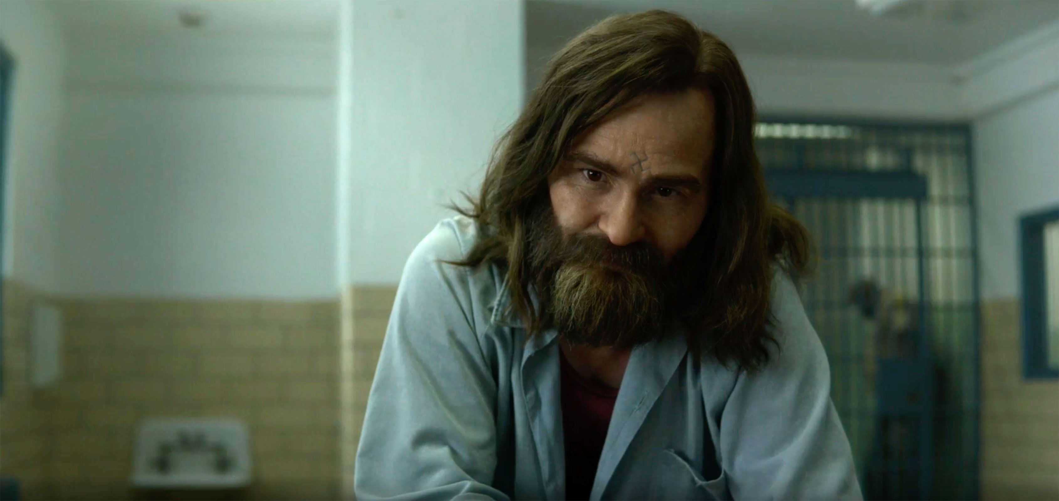 Image may contain: The Manson family, Charles Manson, Mindhunter, season two, Netflix, story, Manson, real life, prison, dead, now, young, latest, what happened, what they did, murders, victims, killing, story, Beard, Face, Person, Human