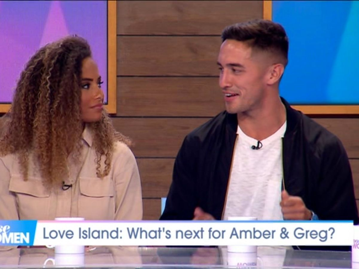 Image may contain: Love Island, gossip, news, latest, rumours, Amber, Greg, TV, spin off, show, cancelled, Court, Audience, Crowd, Hair, Room, Indoors, Human, Person