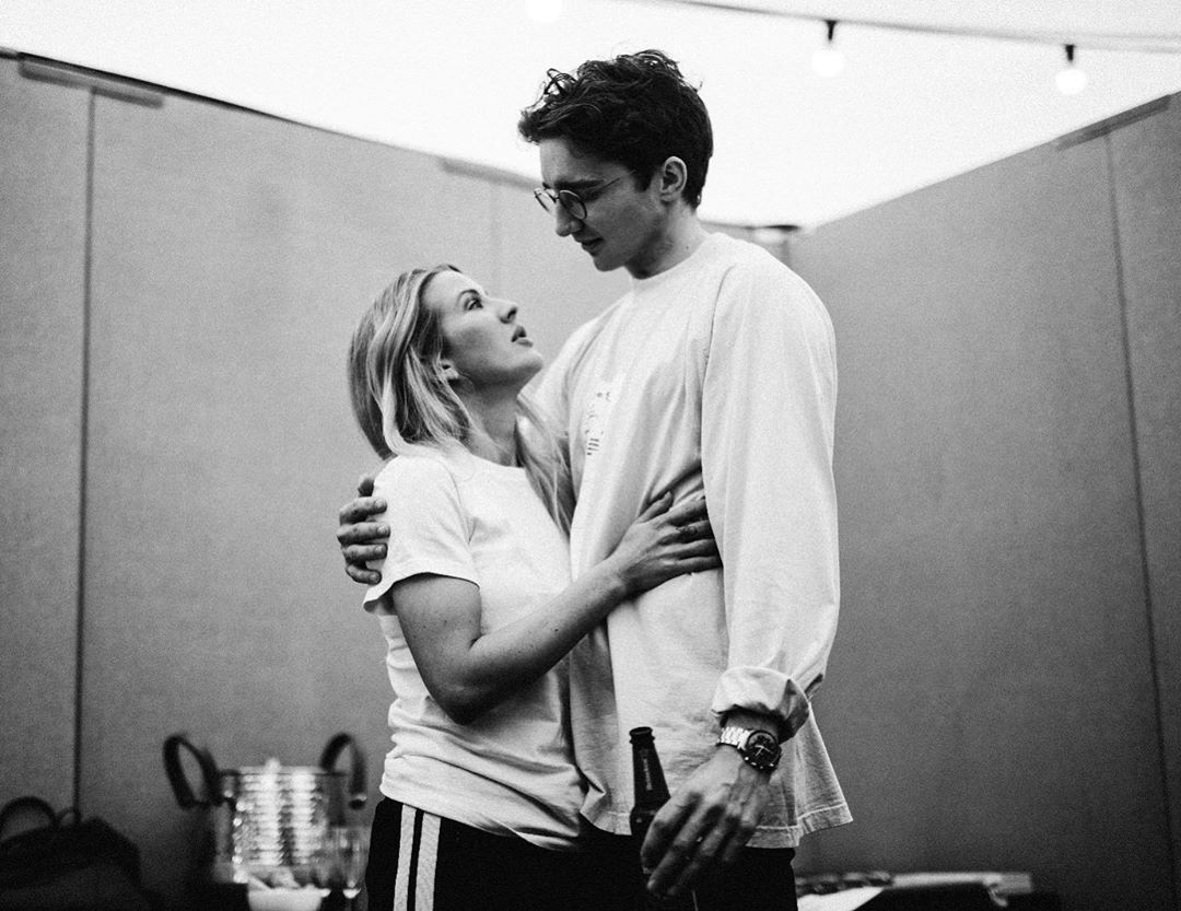 Image may contain: Caspar Jopling, Ellie Goulding, wedding, ceremony, pictures, wife, husband, fiancé, age, Instagram, together, family, job,  Finger, Sleeve, Apparel, Clothing, Human, Person