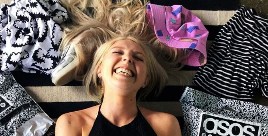 Image may contain: Hair, Head, Clothing, Apparel, Heel, Laughing, Skin, Smile, Child, Blonde, Kid, Female, Girl, Teen, Woman, Person, Human, Face