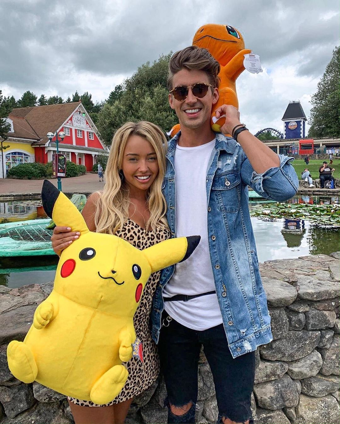 Image may contain: Love Island, Love Island gossip, news, rumours, latest, 2019, Chris, Harley, exclusive, date, official, Alton Towers, Tom, Levena, dinner, Human, Person, Sunglasses, Accessory, Accessories, Denim, Jeans, Pants, Apparel, Clothing