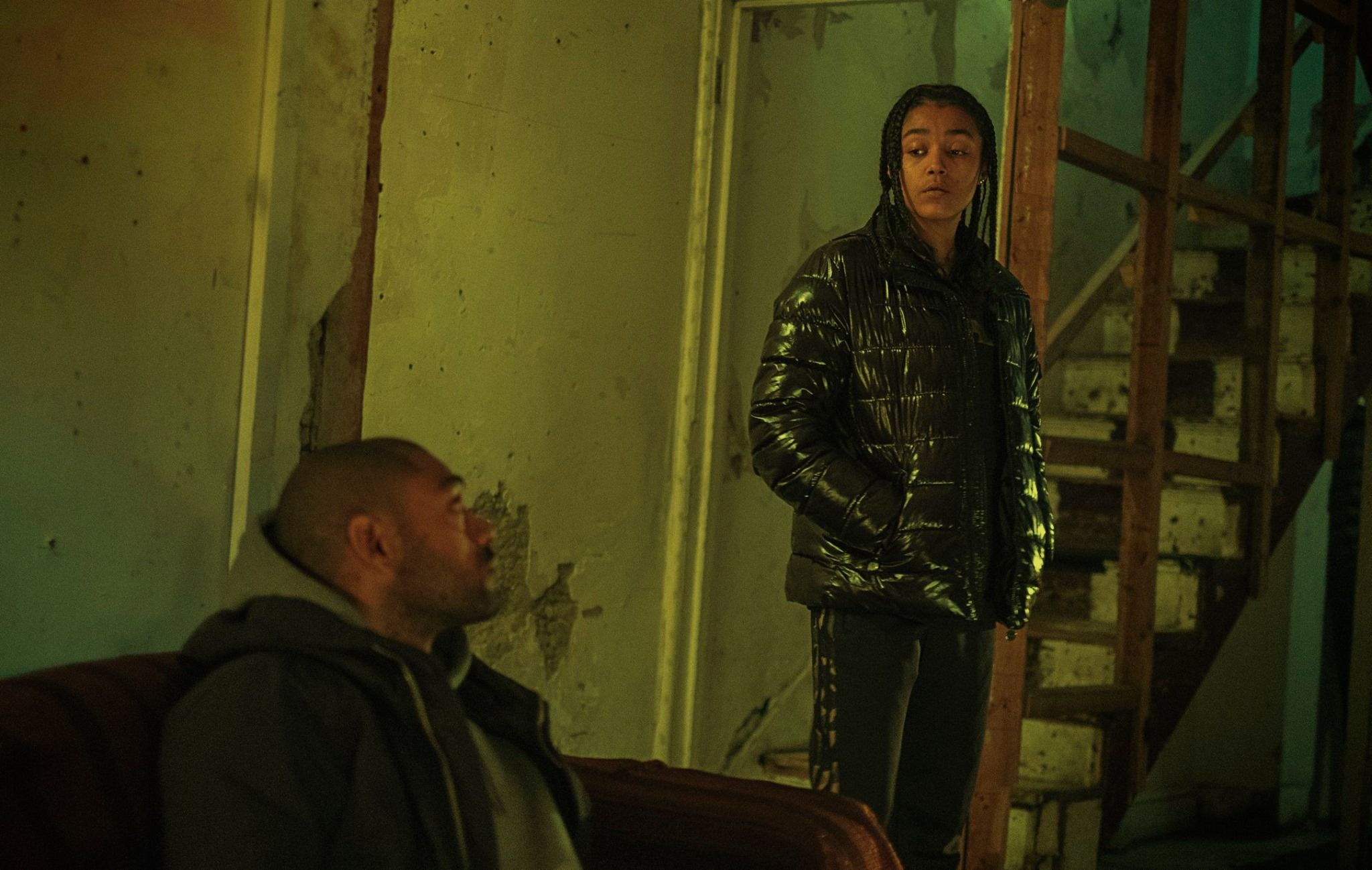 Image may contain: Top Boy, Top Boy season 3, new series, series three, Netflix, Drake, London, new, drama, cast, trailer, release date, Leather Jacket, Long Sleeve, Sleeve, Human, Person, Jacket, Coat, Clothing, Apparel