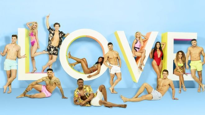 Image may contain: Love Island most shocking moments, Love Island, best bits, highlights, most controversial, series 5, 2019, season five, Leisure Activities, Apparel, Clothing, Collage, Advertisement, Poster, Human, Person