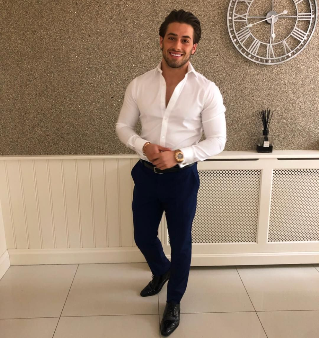 Image may contain: Love Island cast GCSE results, GCSE, results day, 2019, exams, Kem Cetinay, Love Island, cast, Islanders, GCSE results day 2019, Man, Shirt, Pants, Person, Human, Clothing, Footwear, Shoe, Apparel