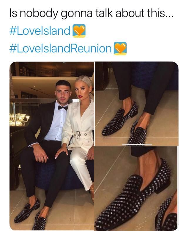 Image may contain: Love Island reunion memes, Love Island, reunion, meme, reaction, tweet, funny, last night, Tommy, Fury, Molly-Mae, shoes, Overcoat, Suit, Blazer, Jacket, Coat, Shoe, Footwear, Person, Human, Clothing, Apparel